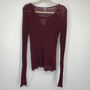 4/$25 Intimately Free People Sheer Knit Shirt Top